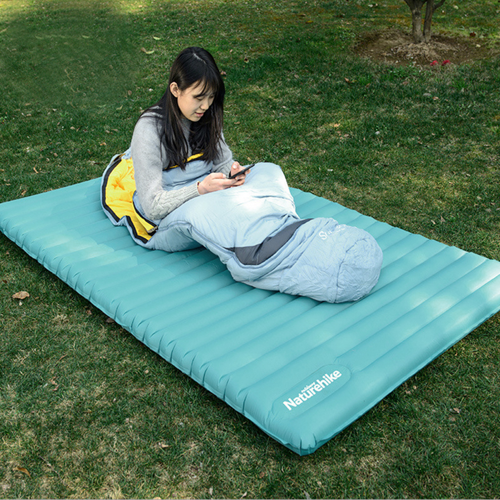 hot double self inflating mattress mat sleeping pad air. Black Bedroom Furniture Sets. Home Design Ideas