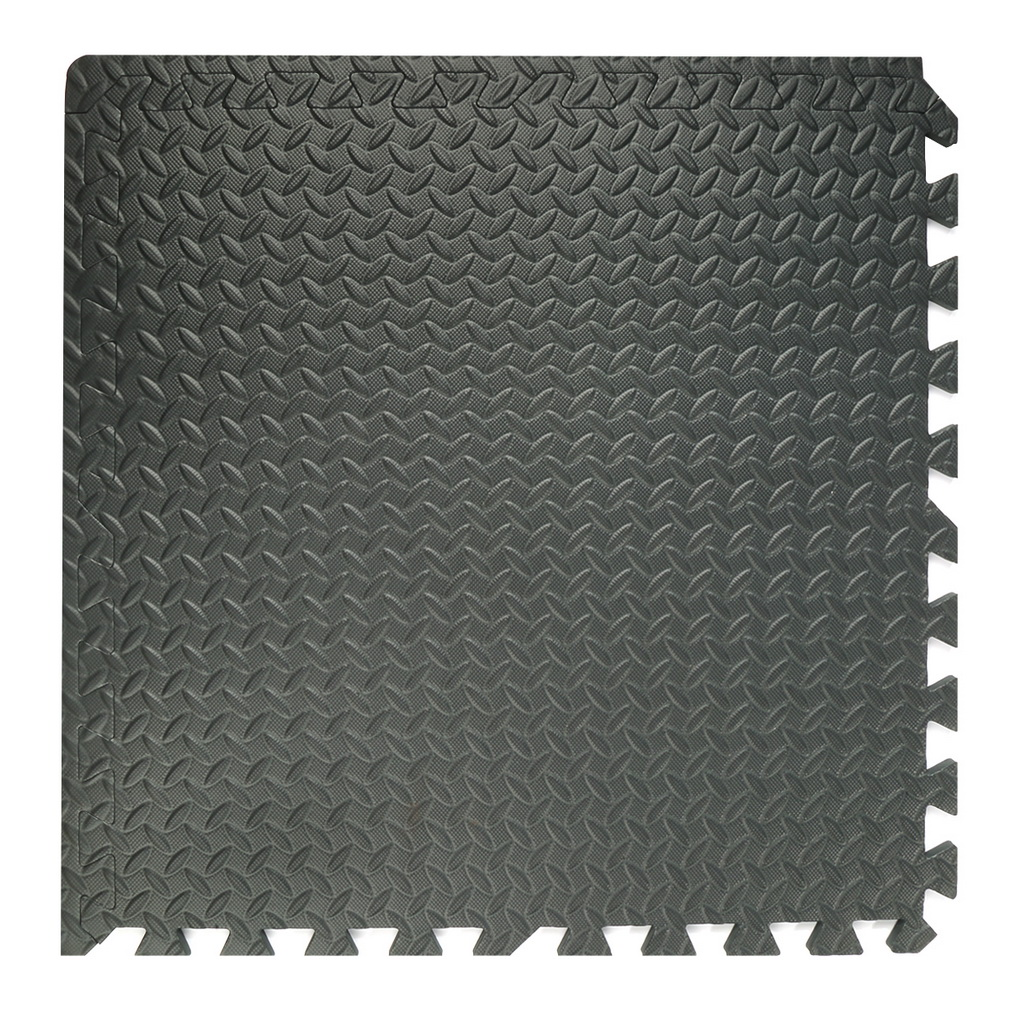 16 Pieces Square Gym Floor Mat Interlocking Eva Black Foam