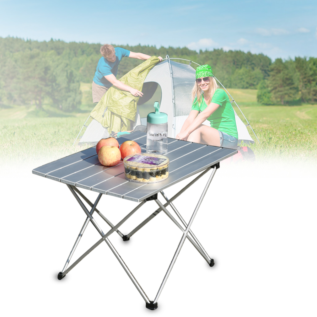 Mesa plegable port til aluminio camping terraza jard n for Mesa de playa plegable