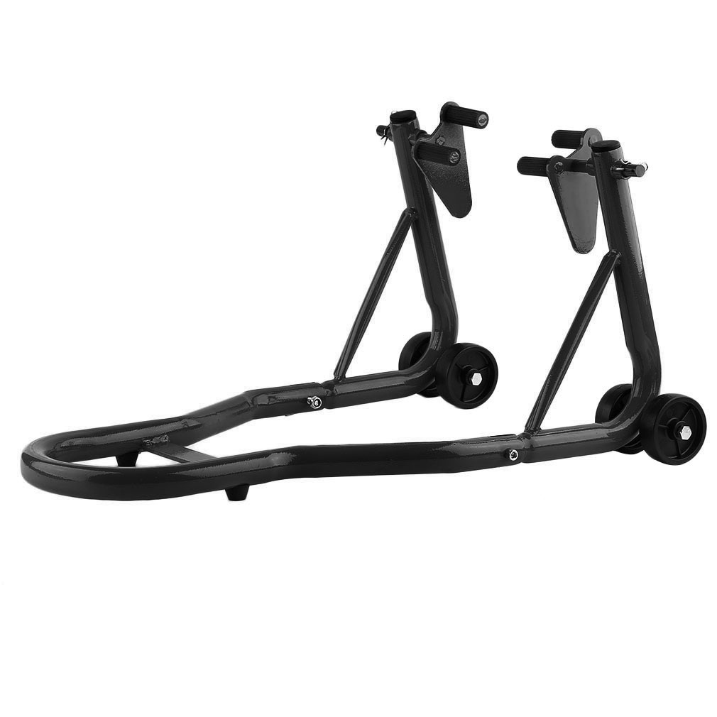 Wheel Lift Swing : Motorcycle stand black front and rear swingarm spool wheel