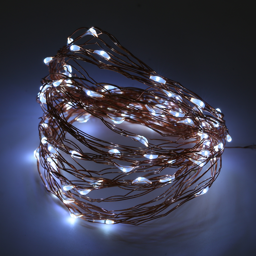 Copper String Lights Solar : Solar Powered Warm White 10M 100LED Copper Wire Outdoor String Fairy Light DG eBay