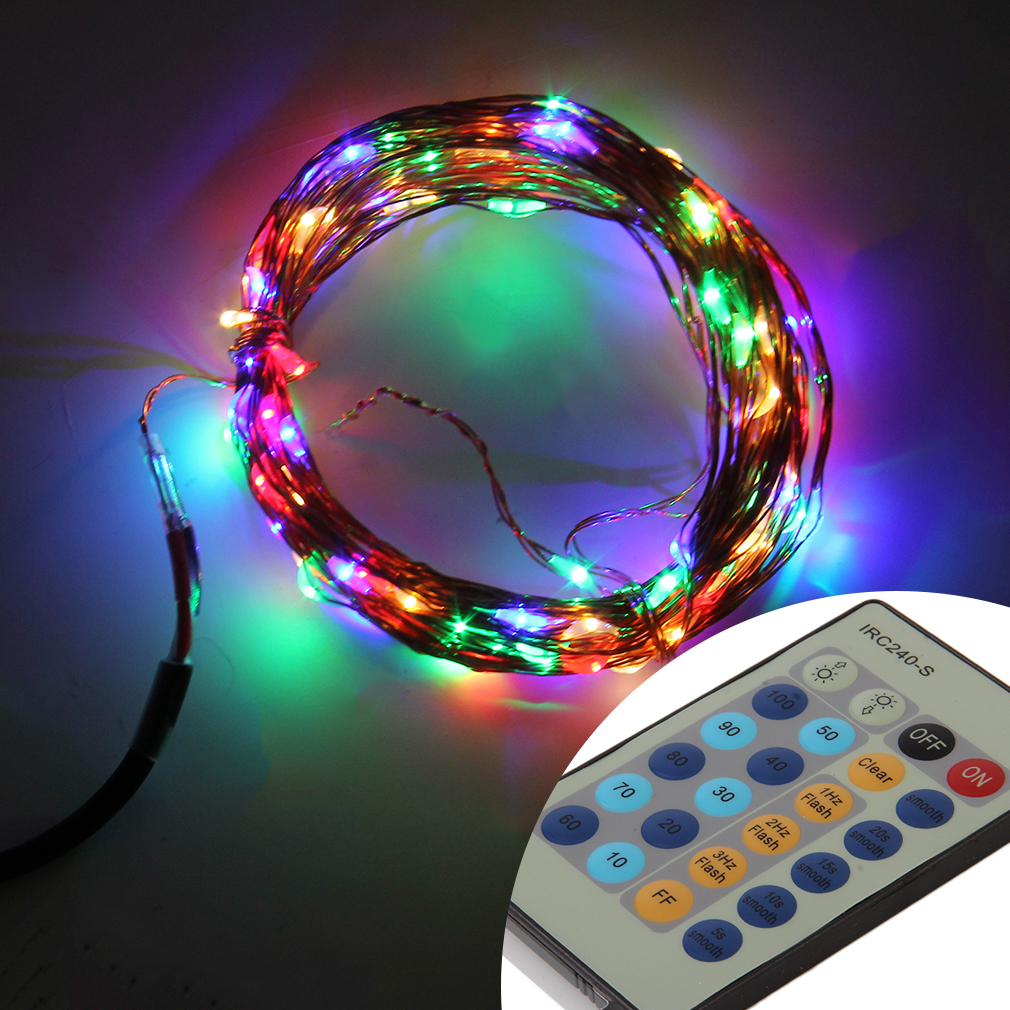 Led String Lights Remote Control : LED String Light 10M 24 Key Remote Control With 12V Power Supply Fairy Light OE eBay