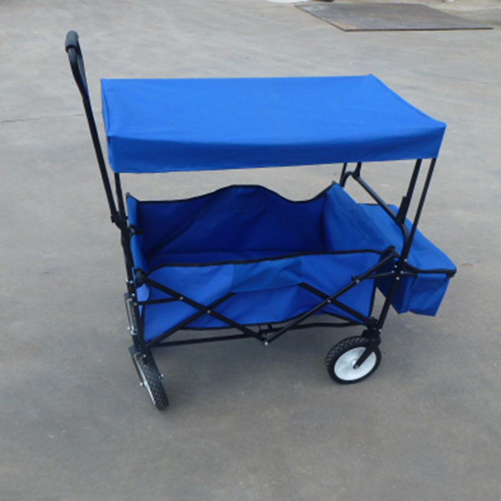 bollerwagen mit dach klappbar faltbar handwagen gartenwagentransportkarre va ebay. Black Bedroom Furniture Sets. Home Design Ideas