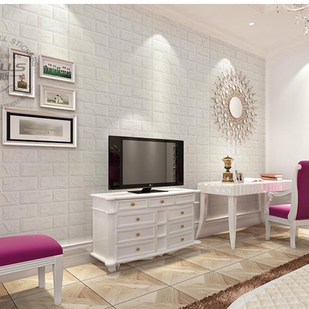 3d sticker mural autocollant brique mural d coration achat vente stickers cdiscount. Black Bedroom Furniture Sets. Home Design Ideas