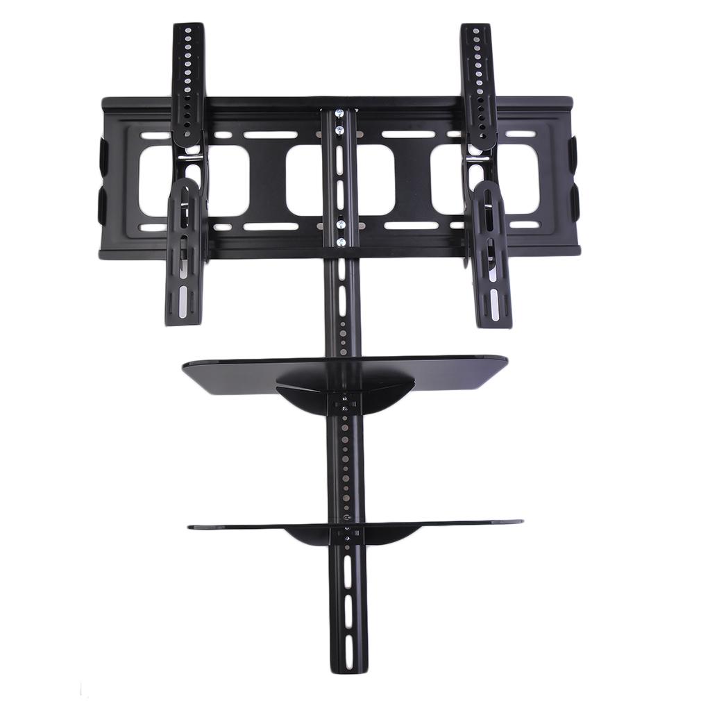 support tv murale fixation pour t l viseur 32 65 pouces taille cran tag res flottantes pour. Black Bedroom Furniture Sets. Home Design Ideas
