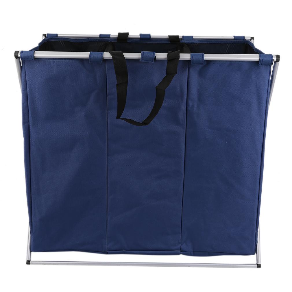 w schesortierer w schekorb w schewagen w schesammler mit 3 f cher blau ebay. Black Bedroom Furniture Sets. Home Design Ideas