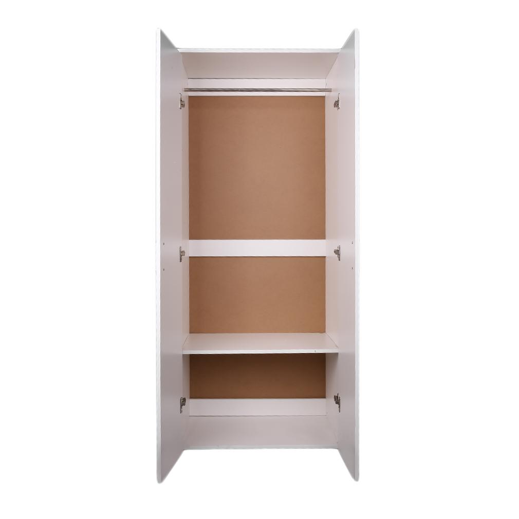Armario ropero 2 puertas, armario con perchero y estante, Conjunto ...