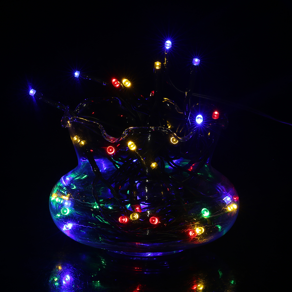 12m 100 led white solar string fairy lights outdoor garden lawn xmas party labe ebay. Black Bedroom Furniture Sets. Home Design Ideas