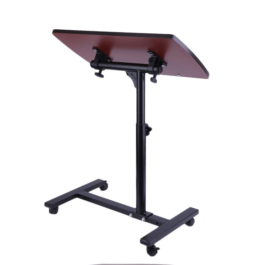 Adjustable angle height rolling laptop notebook desk stand for Divan overbed table
