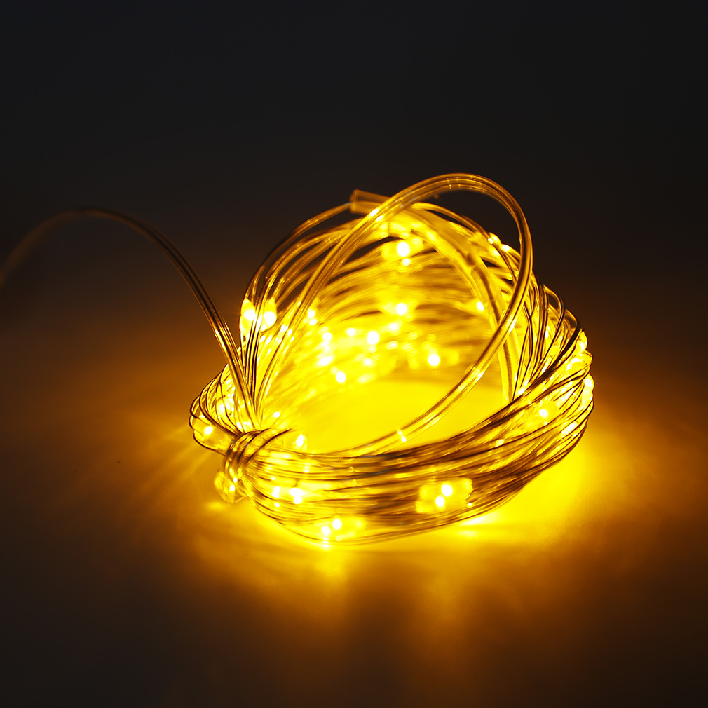 6m 60 Led Copper Wire String Fairy Light 3aa Battery Box