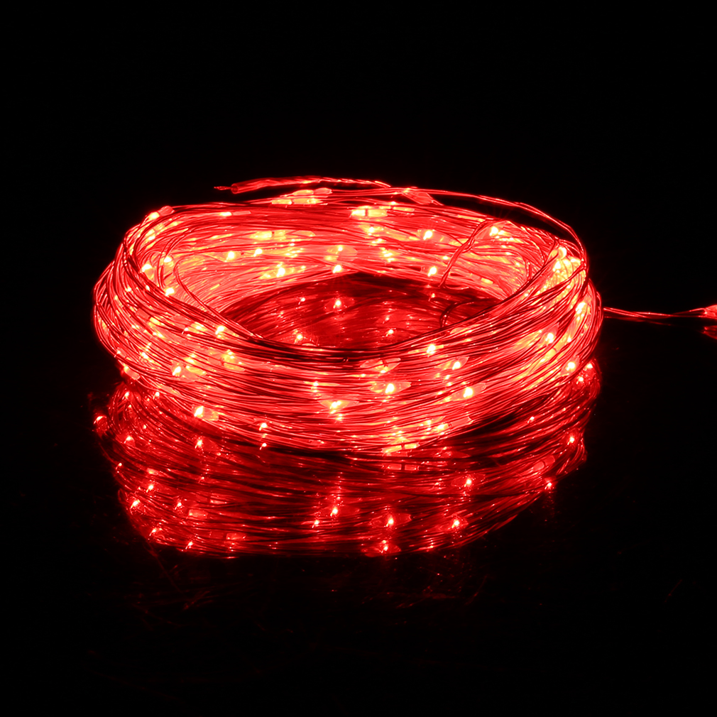 Led String Lights For Cars : 10M 100LED Silver Wire String Fairy Light 12V For Christmas Wedding Part LOT FE