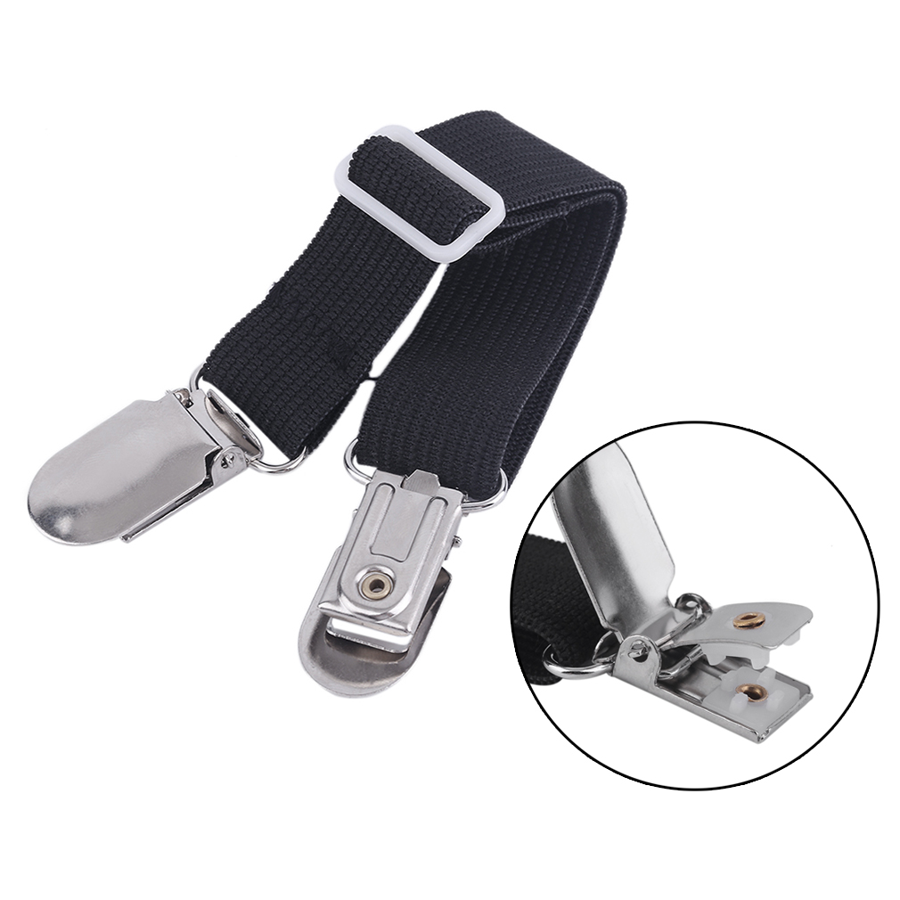 Adjustable mattress bed sheet clips grippers straps