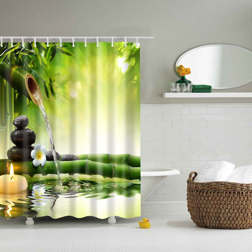 150 180cm eco friendly home bathroom bath waterproof for Decoracion zen salon
