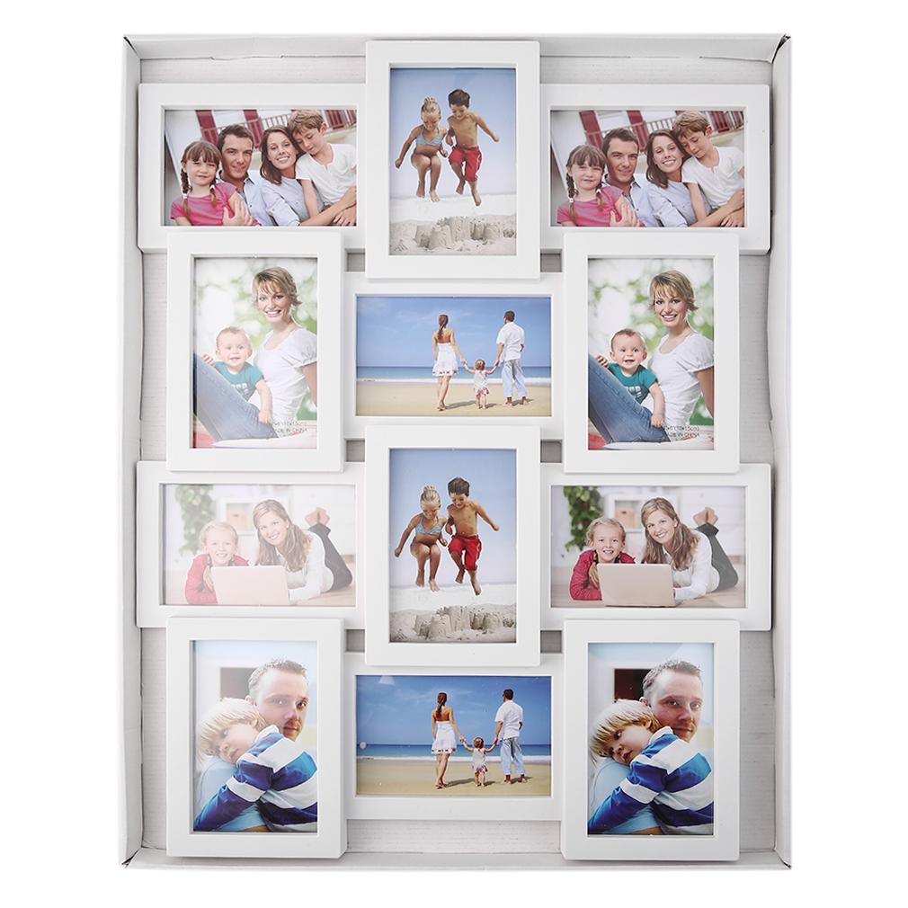 bilderrahmen fotogalerie holz rahmen foto collage fotorahmen wandgalerie de ebay. Black Bedroom Furniture Sets. Home Design Ideas