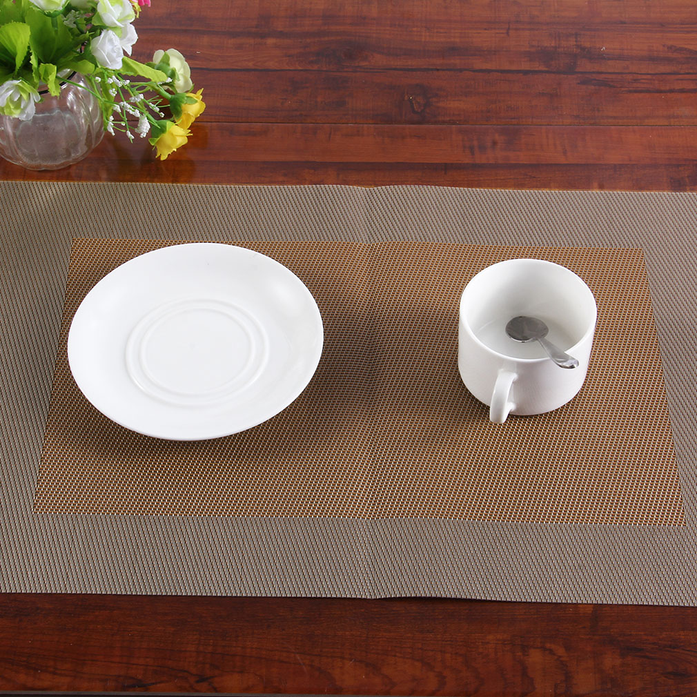 Fashion Print Pvc Placemat Coasters Pads Dining Table Mat