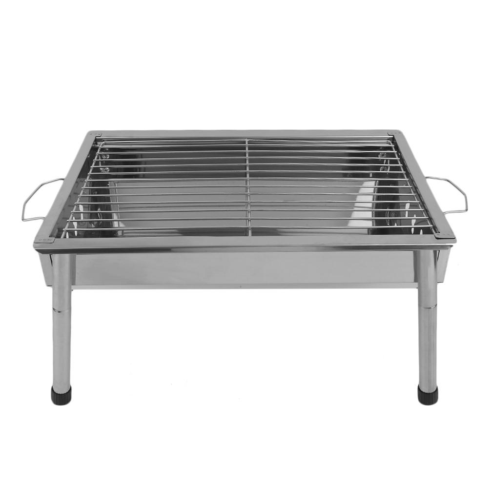 edelstahl holzkohle grill tischgrill kohlegrill grilltonne picknick camping bbq ebay. Black Bedroom Furniture Sets. Home Design Ideas