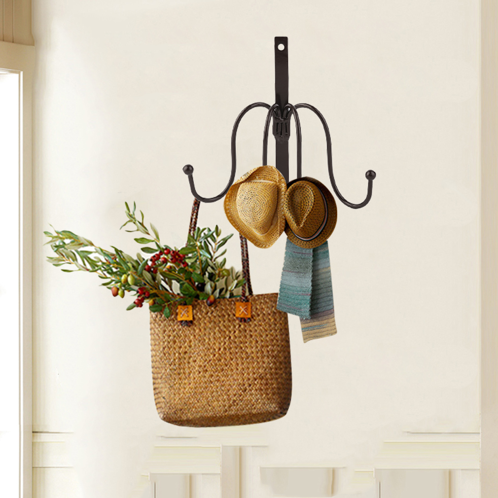 4 hooks clothing hat bag hook bathroom robe hooks wall hanger mounted product au ebay. Black Bedroom Furniture Sets. Home Design Ideas