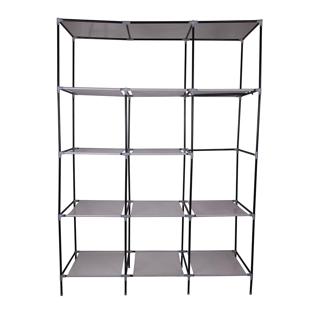 stoffschrank faltschrank kleiderschrank textilschrank schrank campingschrank neu. Black Bedroom Furniture Sets. Home Design Ideas