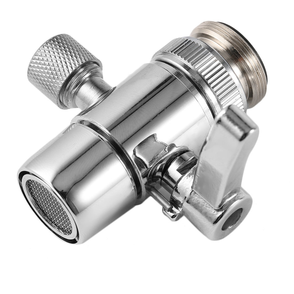 Kitchen Faucet Dimensions: PV10 Chrome Brass Polished Diverter For Kitchen Sink