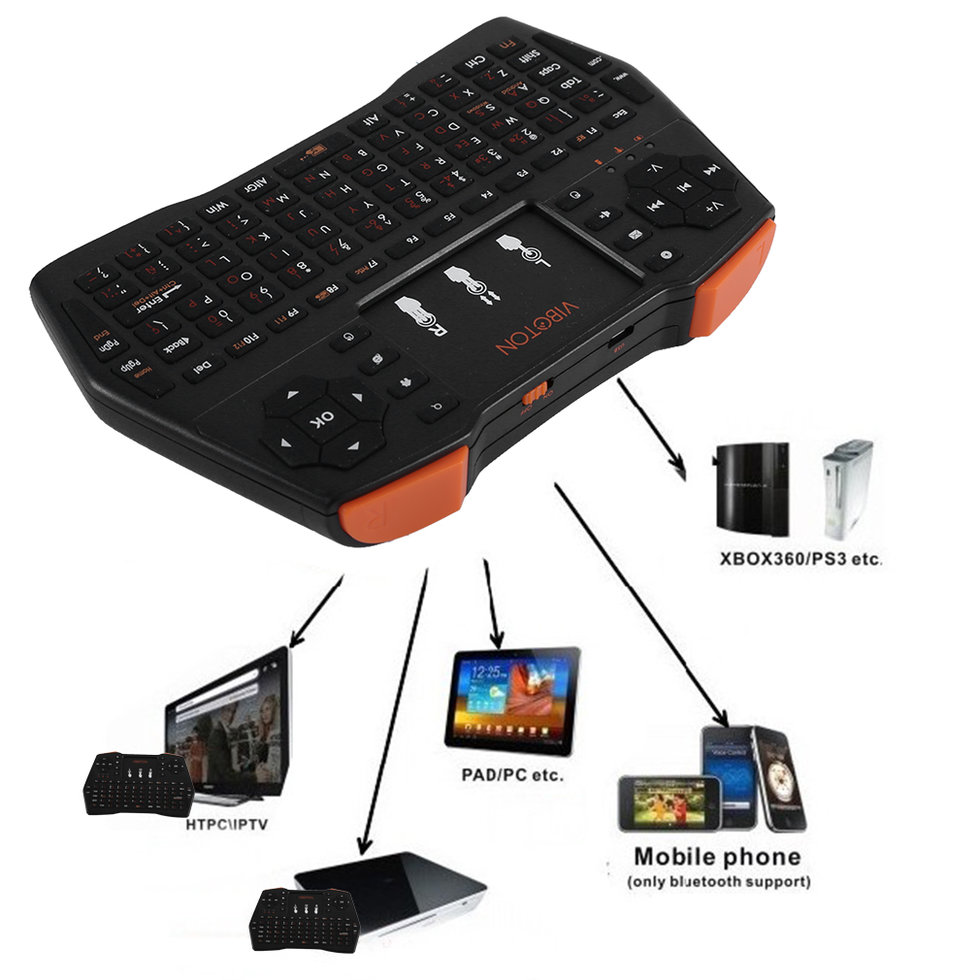 9b154c42a51 VIBOTON i8 Plus Multifunctional Wireless Keyboard 2.4GHz RF Wireless ...