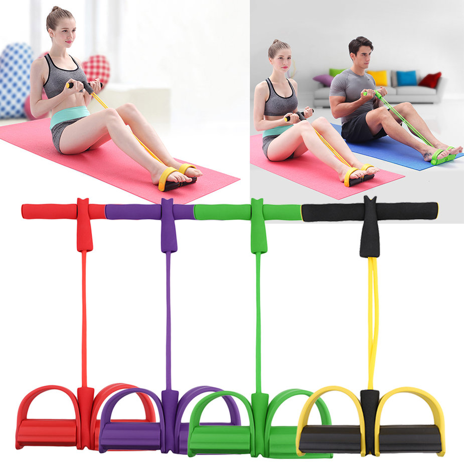 Resistance Band Rope Tube Elastic Exercise Equipment For