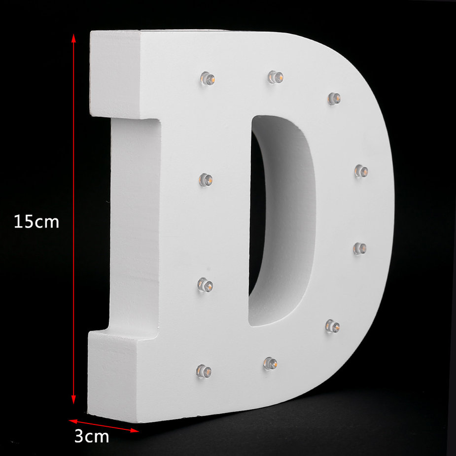 Wall Hanging Night Light : Wooden 26 Letters LED Night Light Festival Lights Party Lamp Wall Hanging XD