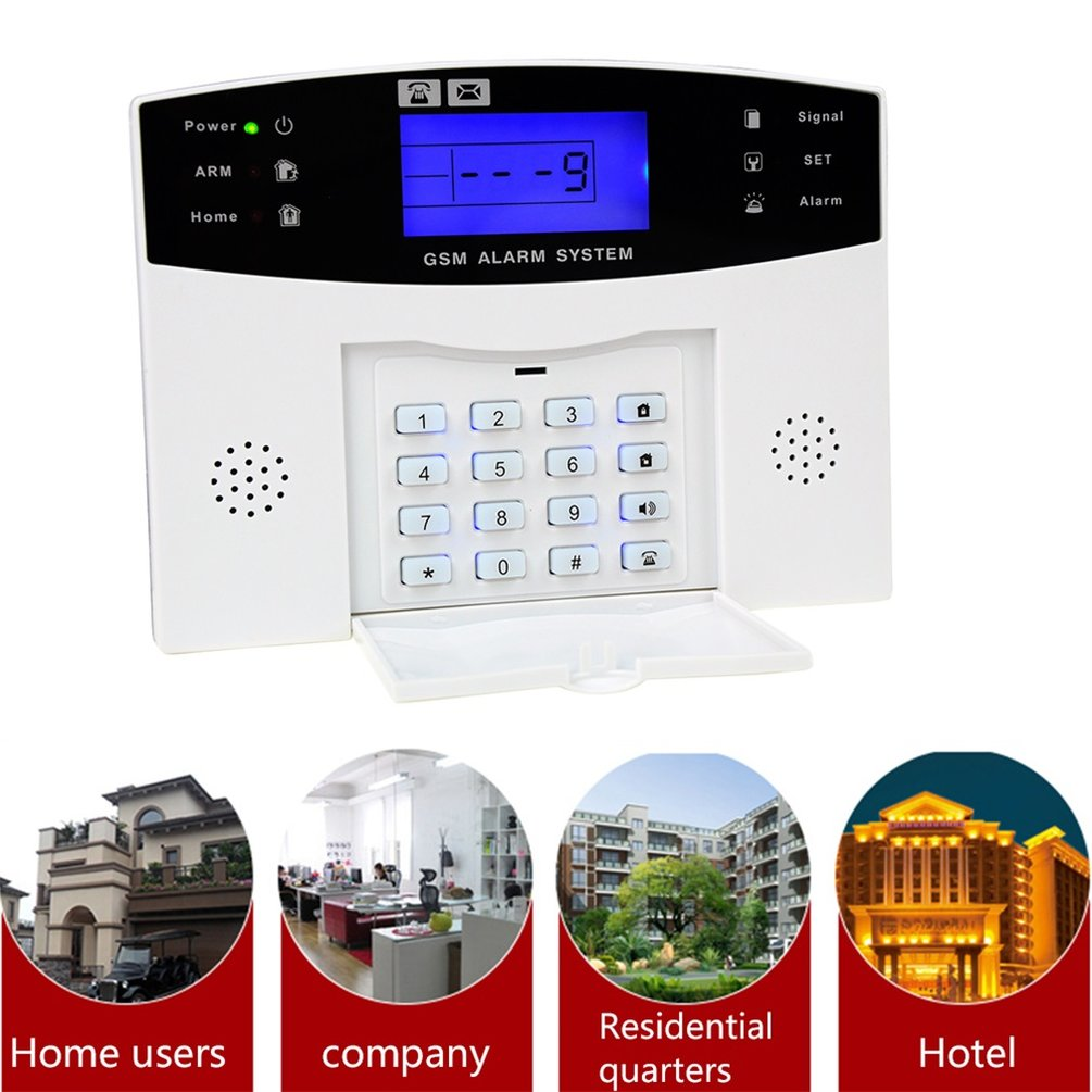 Security Systems Lincoln Ne: Home Office Security GSM Alarm System With LCD Call
