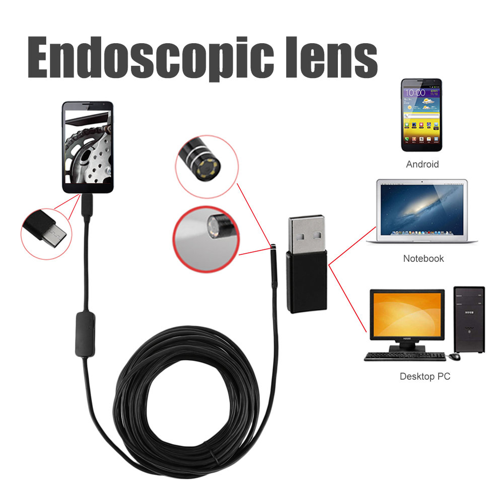 Camera Usb Cable Types : Type c usb wire endscope camera with meters cable