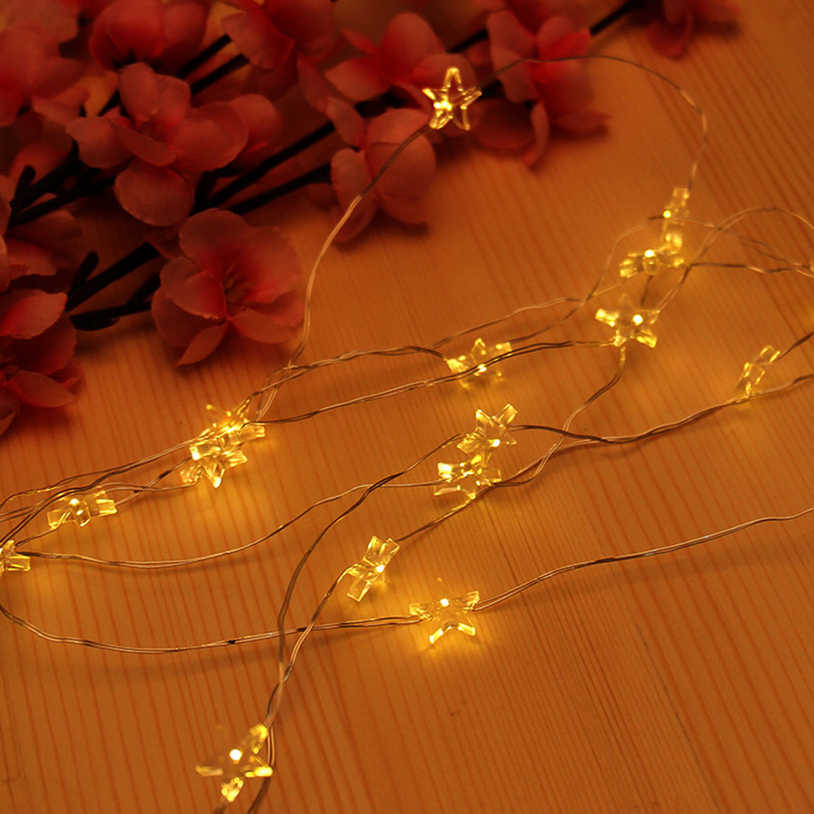Copper Star String Lights : 20 LEDS Copper Wire Star String Lights LED Starry Fairy Lights LED Lamps SM eBay