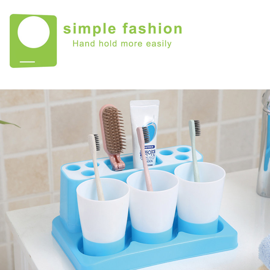 Fashion bathroom toothbrush holder toothbrush set for a for Fashion bathroom set