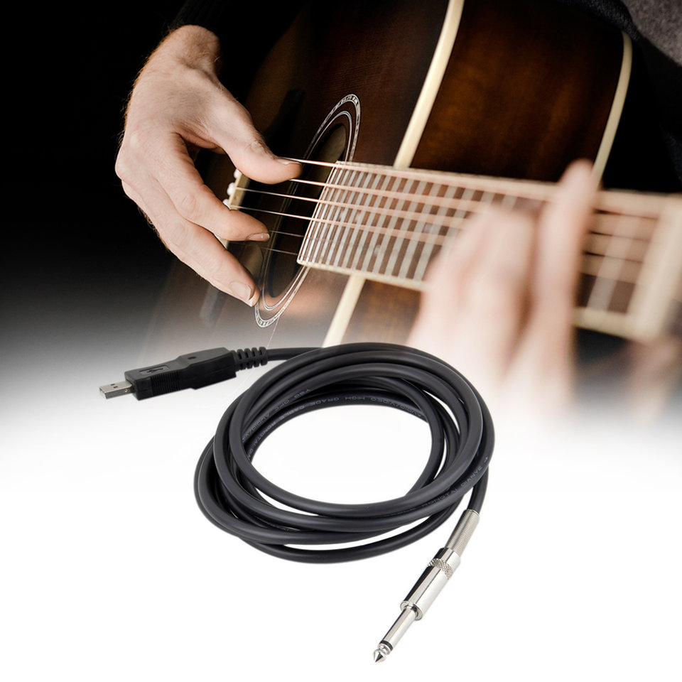 3m Guitar Bass 1 4 Usb To 63mm Jack Link Connection Instrument Wiring A Cable Adapter I