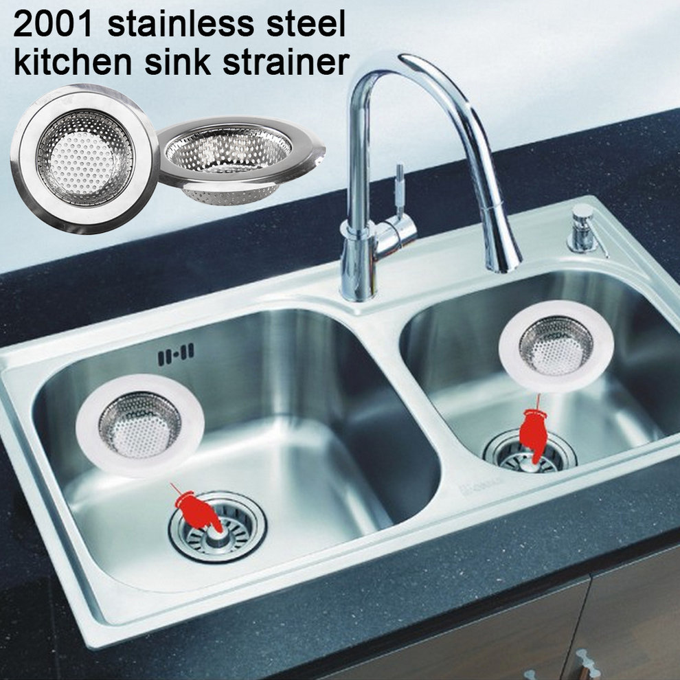 Stainless Steel Kitchen Sink Drain Assembly Waste Strainer and ...